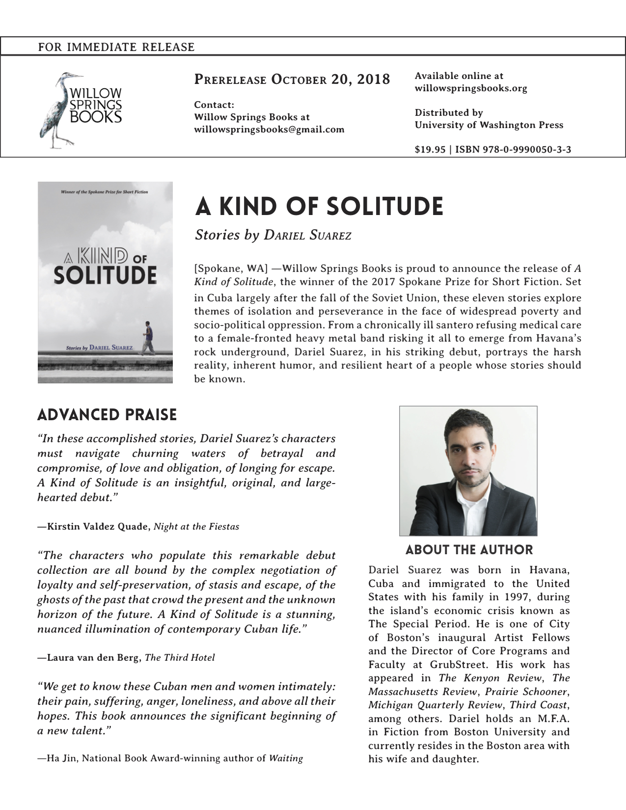 A Kind of Solitude Press Release Final