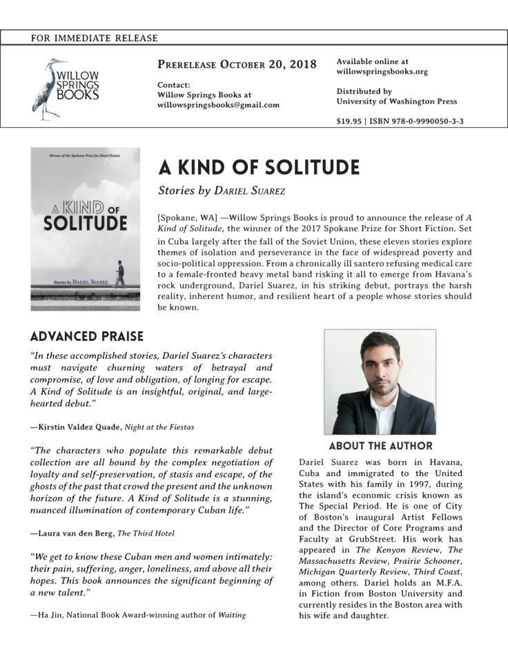 A Kind of Solitude Press Release Final